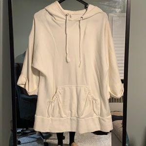 Off-white plush Victoria's Secret tunic hoodie